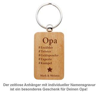 Schlüsselanhänger graviert - Hashtag Opa - 2