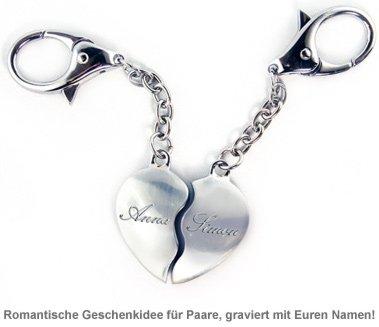 Schlüsselanhänger Liebespaar mit Namen - 2