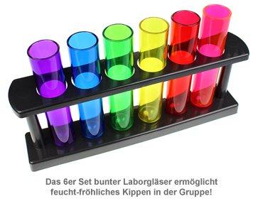 Schnapsgläser - Reagenzgläser 6er Set - 3