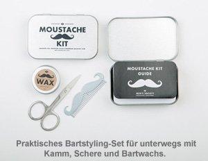 Schnurrbart Pflegeset - 2