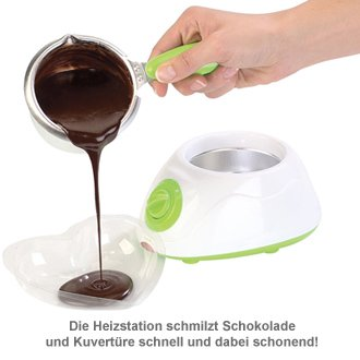 Schokolade schmelzen - Schokofondue Set - 3