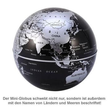 Schwebender Globus mit LED Beleuchtung - 2