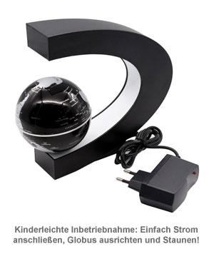Schwebender Globus mit LED Beleuchtung - 3