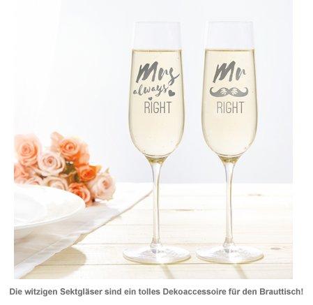 Sektgläser - Mr and Mrs Right - 3