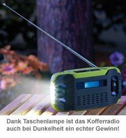 Solar Kofferradio mit Dynamo und Taschenlampe - 3