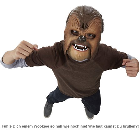 Star Wars Chewbacca Maske mit Soundeffekt - 2
