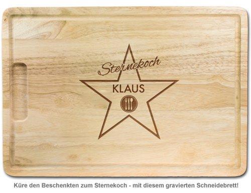 Sternekoch - personalisiertes Schneidebrett - 2