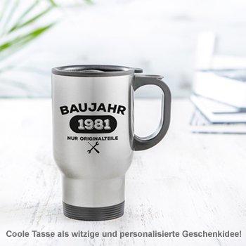 Thermobecher personalisiert - Baujahr - 2