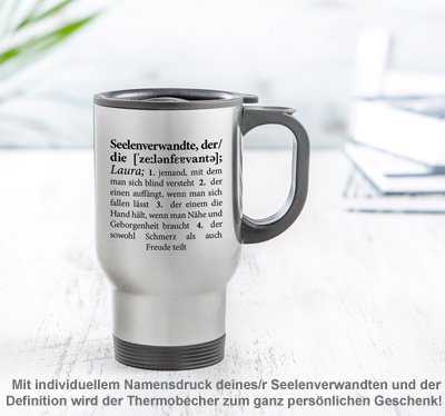 Thermobecher personalisiert - Definition Seelenverwandte - 2