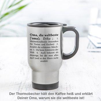 Thermobecher personalisiert - Definition Weltbeste Oma - 2