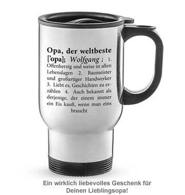 Thermobecher personalisiert - Definition Weltbester Opa - 2