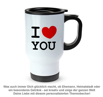 Thermobecher personalisiert - I Love - 2