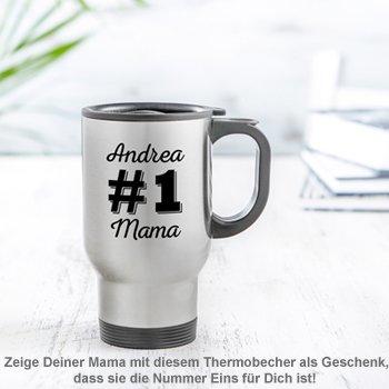 Thermobecher personalisiert - Nummer 1 Mama - 2
