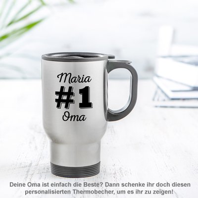 Thermobecher personalisiert - Nummer 1 Oma - 2