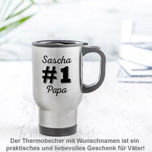 Thermobecher personalisiert - Nummer 1 Papa - 2