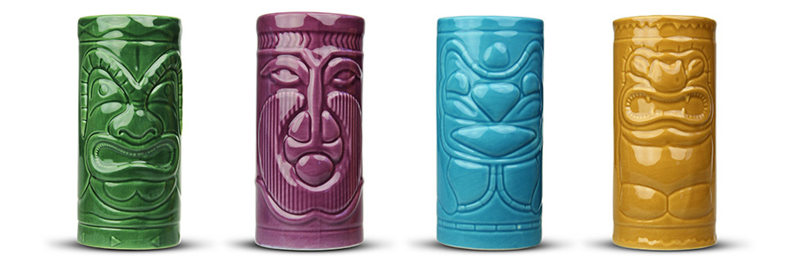 Tiki Becher - 4er Set - 2
