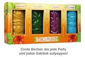 Tiki Becher - 4er Set - 3
