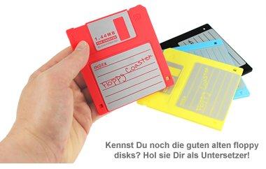 Untersetzer - Disketten 4-teilig - 2