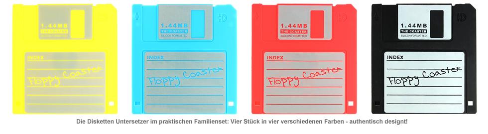 Untersetzer - Disketten 4-teilig - 3