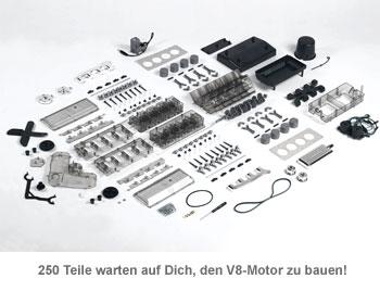 V8 Motor Bausatz - 250 Teile für echte Fans von Automotoren!