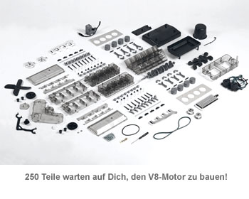V8-Motor Bausatz - 250 Teile - 2