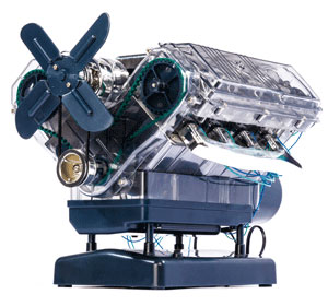 V8-Motor Bausatz - 250 Teile - 4