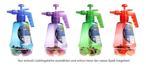 Wasserbombenfüller - Pumpe mit 100 Wasserballons - 2
