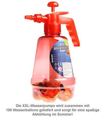Wasserbombenfüller - Pumpe mit 100 Wasserballons - 4