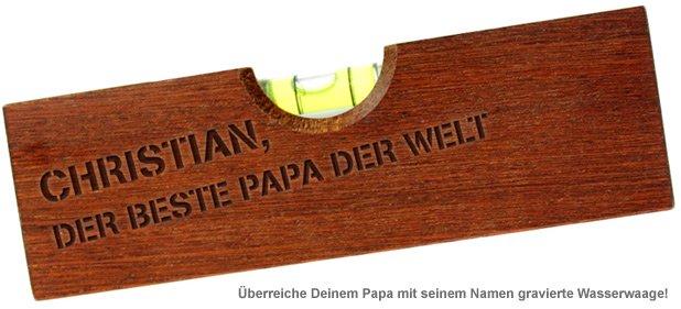 Wasserwaage mit Flaschenöffner graviert - Bester Papa - 2