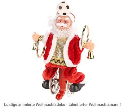 Weihnachtsmann auf Einrad - 2