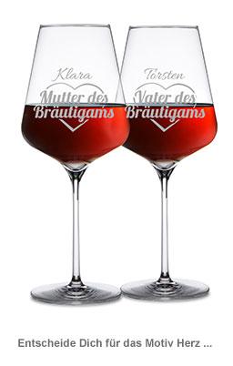 Weingläser für Bräutigameltern - 2