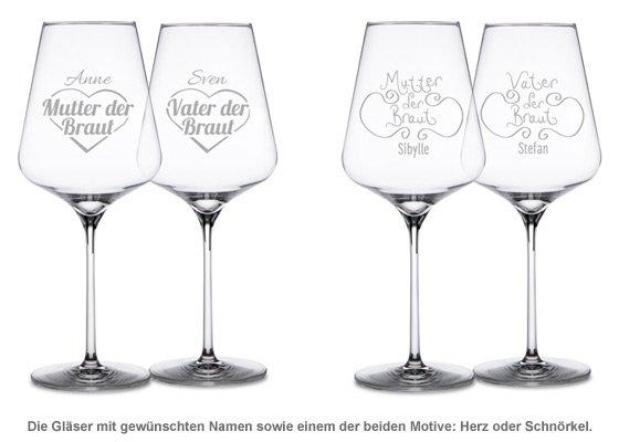 Weingläser für Brauteltern - 2