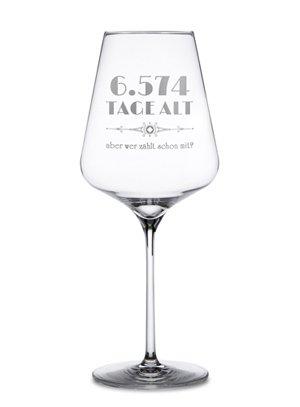 Weinglas mit Gravur - Alter in Tagen - 3
