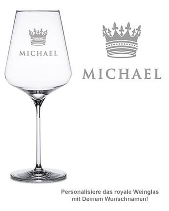 Weinglas mit Gravur - König Krone - 2