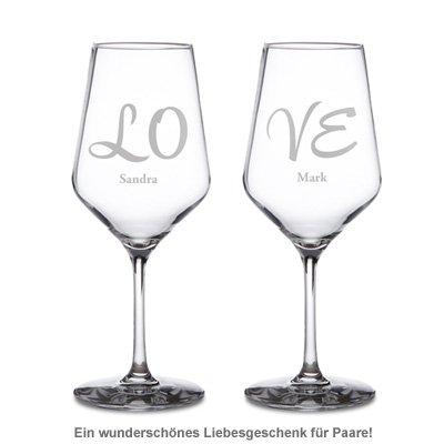 Weißweingläser Love - 2er Set - 2