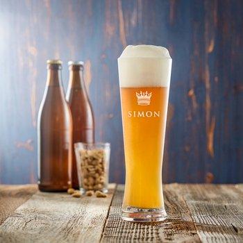 Weizenglas mit Gravur - Bier Kenner - 3