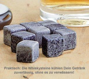 Whisky Set Bester Papa - Whisky Steine und Glas - 4