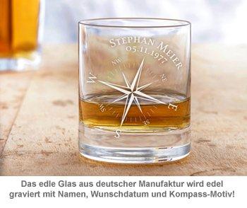 Whisky Set mit Globus Karaffe und Glas - Kompass - 2