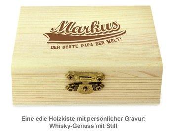 Whisky Steine in Holzkiste mit Gravur - College Bester Papa - 2