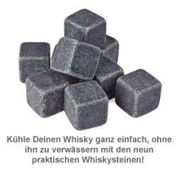 Whisky Steine in Holzkiste mit Gravur - Kompass - 2