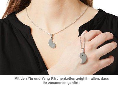 Yin und Yang Anhängerset für Paare - mit Gravur - 2