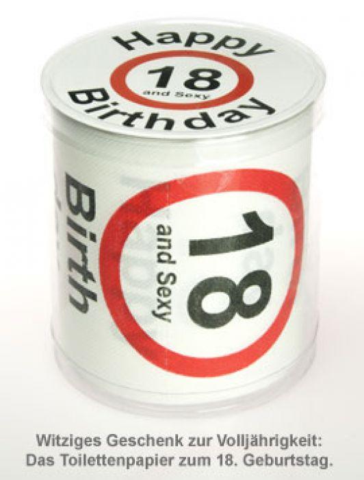 Toilettenpapier zum 18. Geburtstag