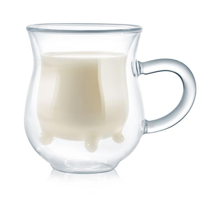 Pot à lait en verre