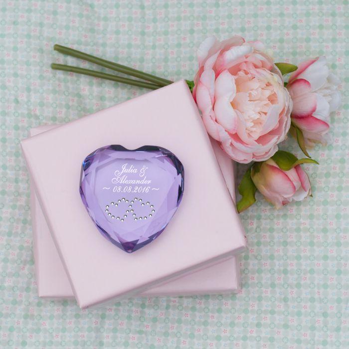 Romantischer Liebesbeweis herz diamant mit gravur romantischer und edler liebesbeweis