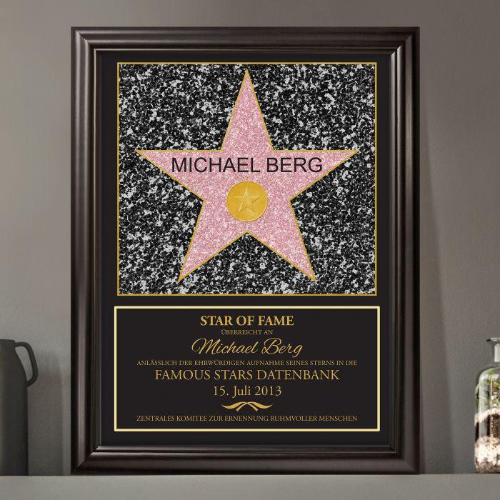 Star of Fame - personalisiertes Bild mit individueller Widmung