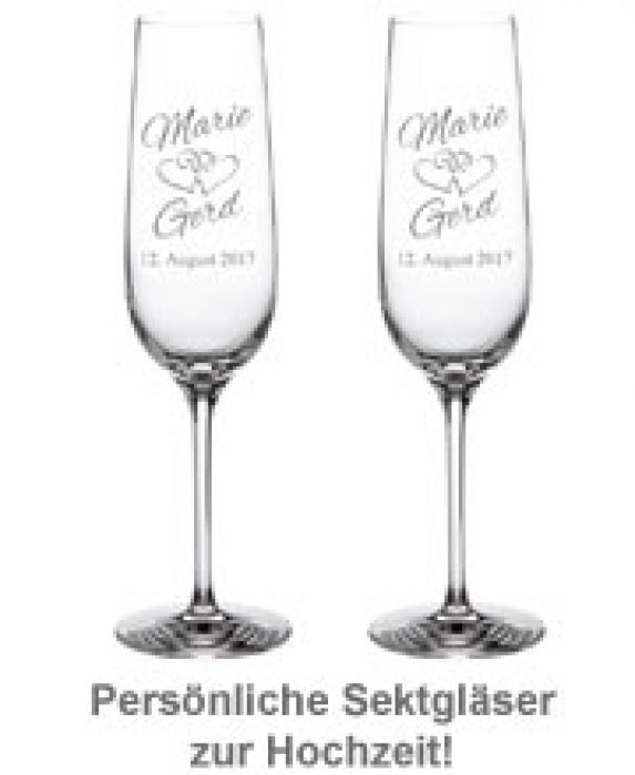 Pory Roku I święta Sektglas Set Alles Gute Goldenen Hochzeit