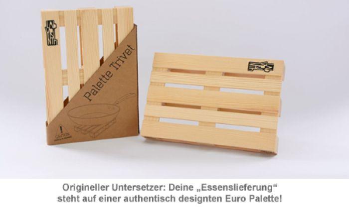 Holz Untersetzer - Euro Palette