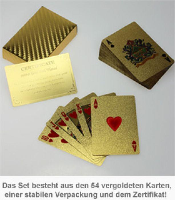 Goldenes Kartenspiel