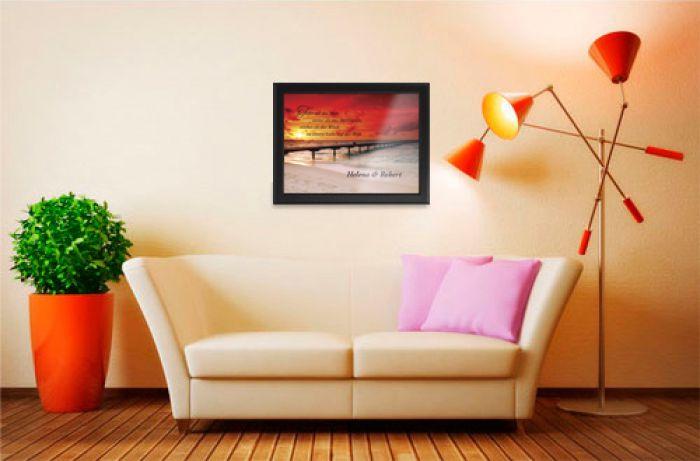 Sonnenuntergang am Meer - personalisiertes Bild