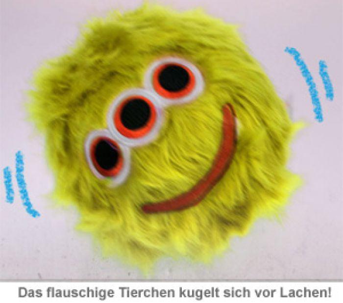 Kichernder Plüschball